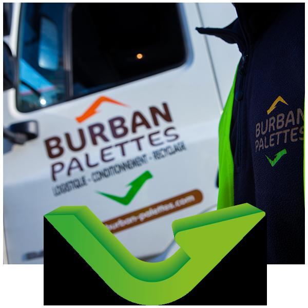 BURBAN PALETTES - Camion logo